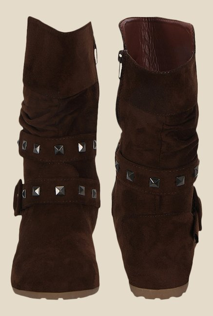 Kielz Brown Flat Booties