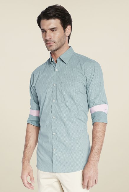 Park Avenue Green Printed Shirt