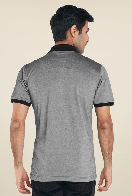 Raymond Grey Solid T Shirt