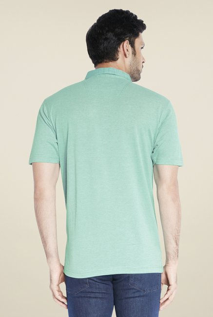 Raymond Green Solid Half Sleeve T Shirt
