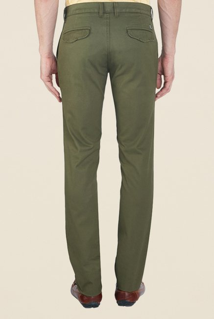 ColorPlus Olive Solid Trousers