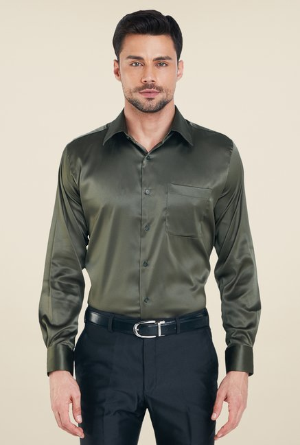 Raymond Olive Solid Shirt