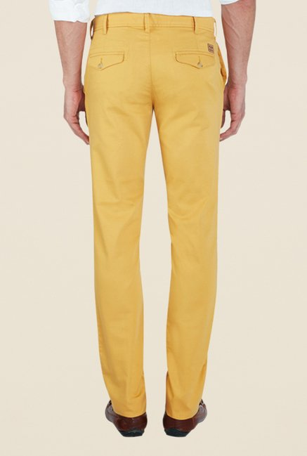 ColorPlus Yellow Solid Trousers