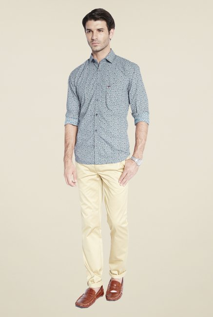 Park Avenue Grey Printed Shirt