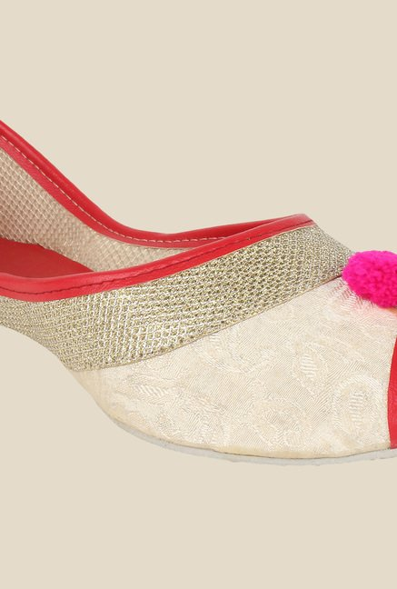 Sassily Beige & Red Jutti Shoes