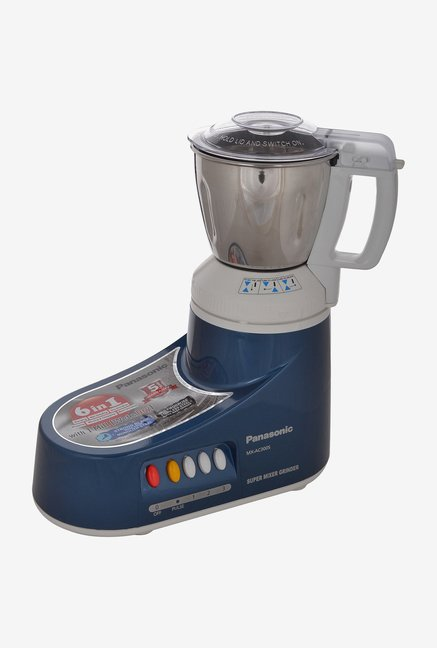 Panasonic MX-AC300S 550 Mixer Grinder Blue, (3 Jars)