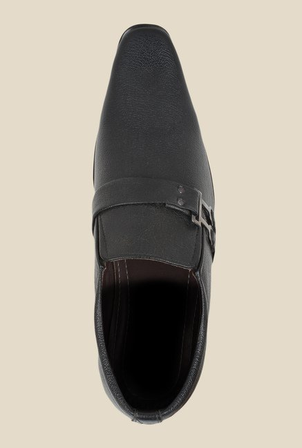 Rexler Black Formal Slip-Ons