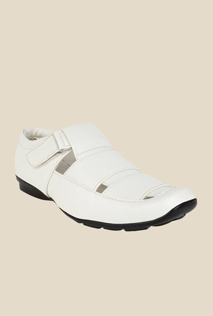 Rexler White Fisherman Sandals