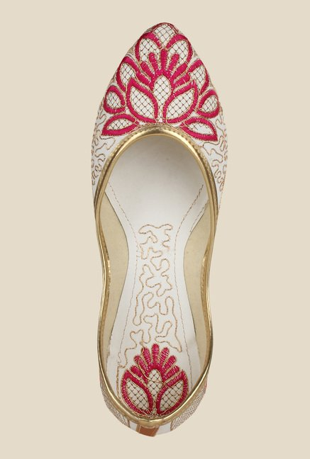 Sassily White & Pink Jutti Shoes