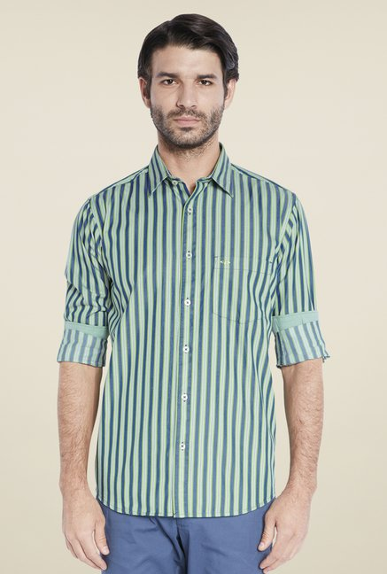 ColorPlus Green Striped Shirt