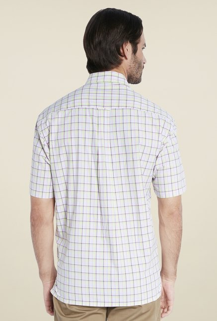 ColorPlus White Checks Shirt