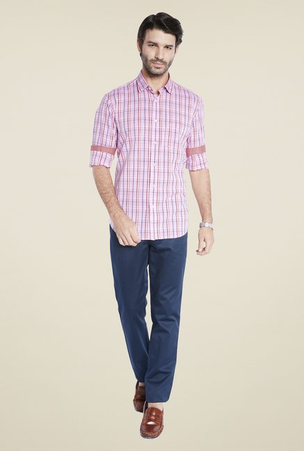 ColorPlus Pink Checks Shirt