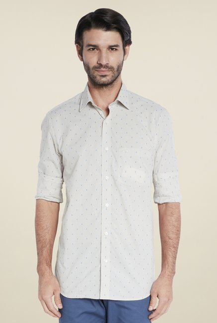 ColorPlus Beige Printed Shirt