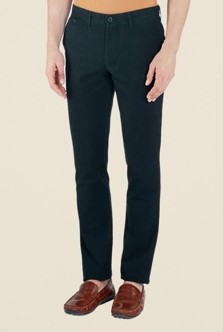 ColorPlus Navy Solid Trousers