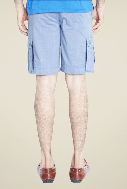 Raymond Blue Checks Shorts
