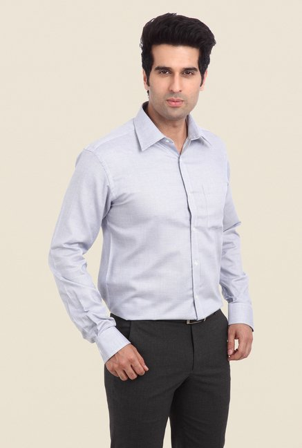 Park Avenue Grey Self Print Shirt