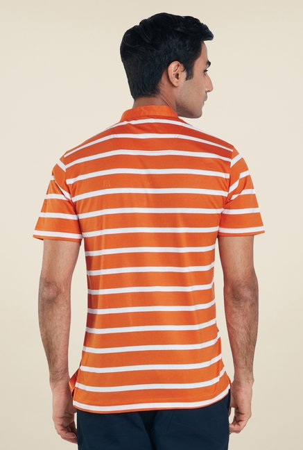 Raymond Orange Stripes T Shirt