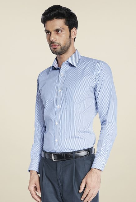 Raymond Blue Striped Shirt