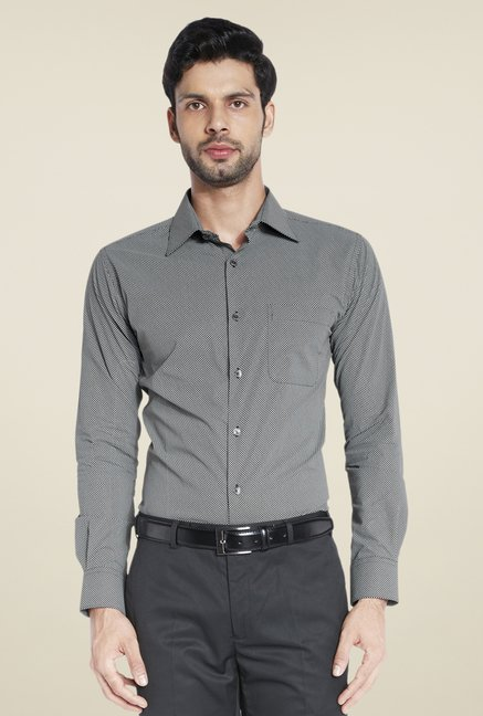 Raymond Black Printed Shirt