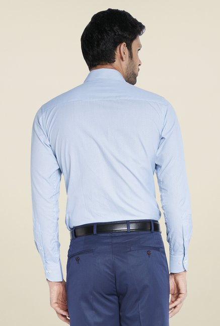 Raymond Blue Self Print Shirt