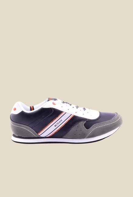 Escan Grey & Purple Running Shoes