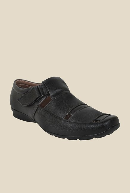 Rexler Black Fisherman Sandals