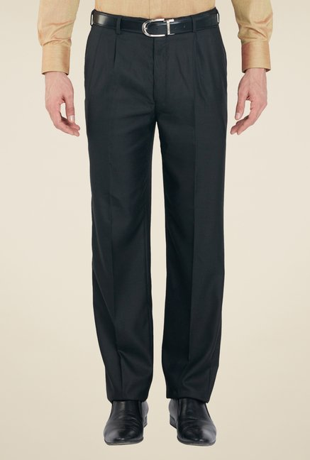 Raymond Black Solid Trousers