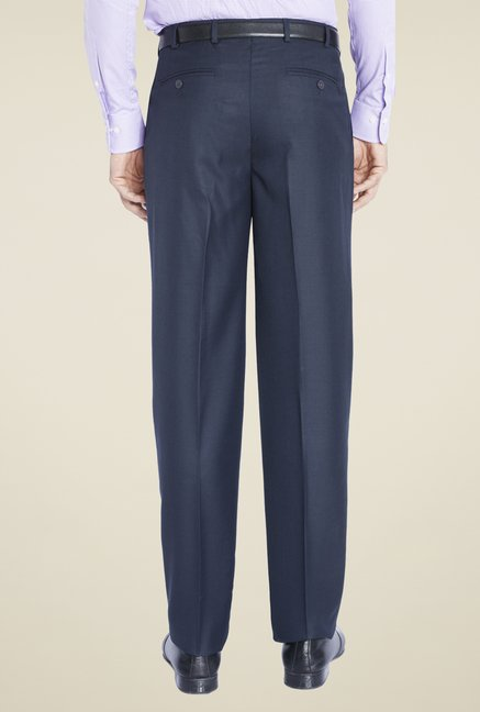 Raymond Blue Solid Trousers