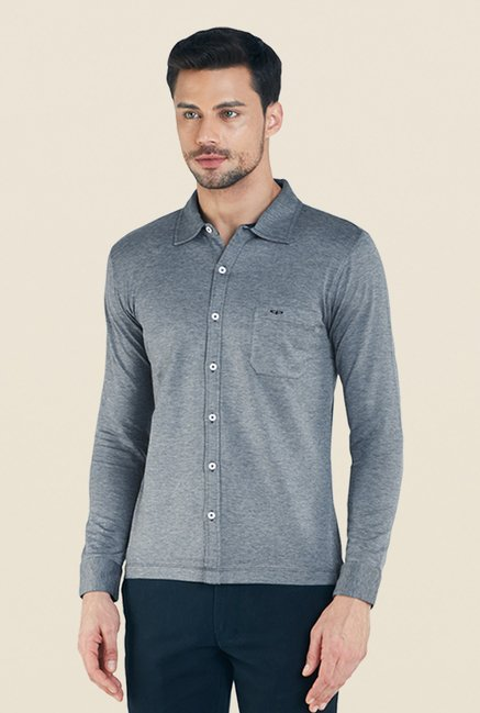 Colorplus Grey Solid Shirt