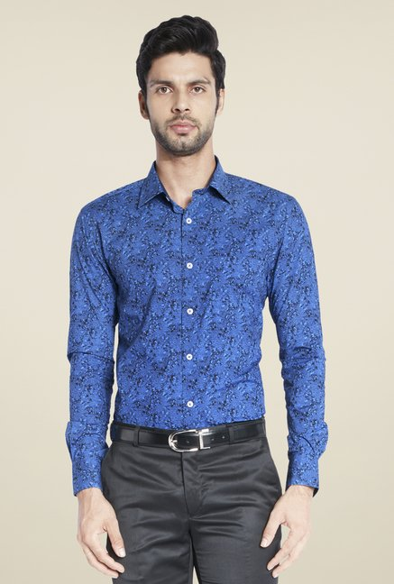 ColorPlus Blue Printed Shirt