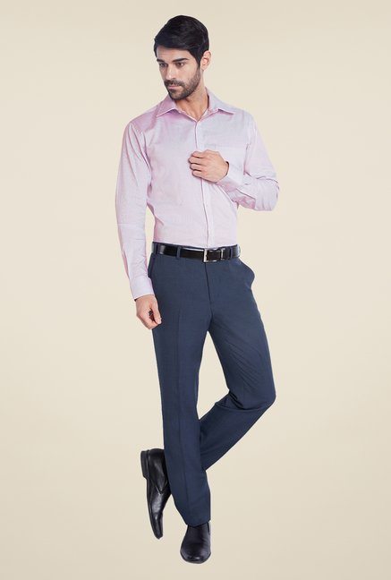 Park Avenue Purple Textured Shirt
