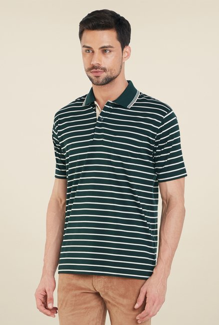 ColorPlus Green Stripes T Shirt