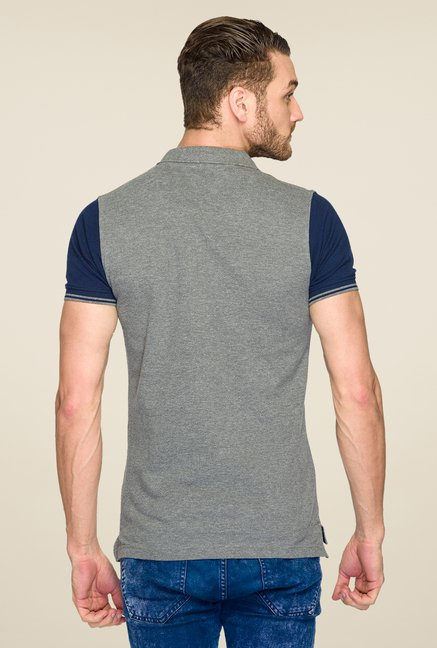 ColorPlus Grey Solid T Shirt