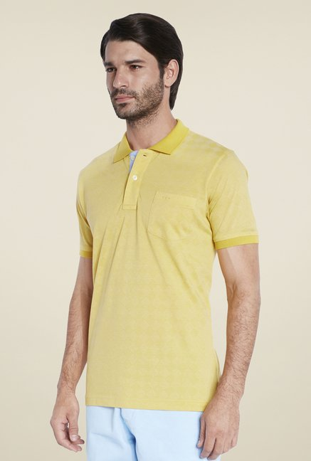 ColorPlus Yellow Self T Shirt