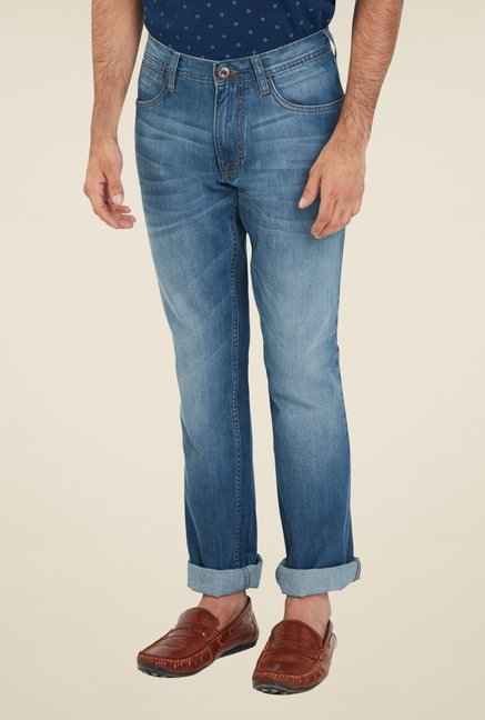 ColorPlus Blue Cotton Jeans