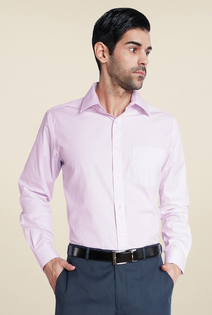 Park Avenue Purple Pin Striped Shirt