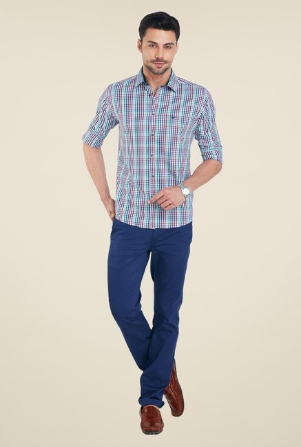 Park Avenue Multicolor Checks Shirt