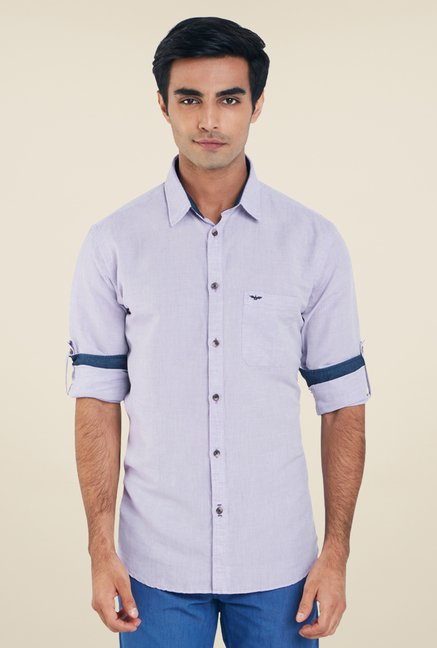 Park Avenue Purple Solid Shirt
