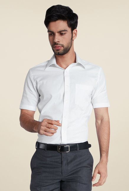 Park Avenue White Pin Striped Shirt