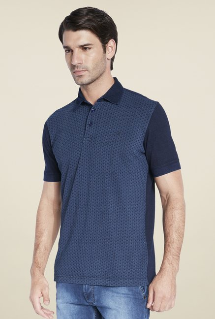 Park Avenue Navy Print T Shirt
