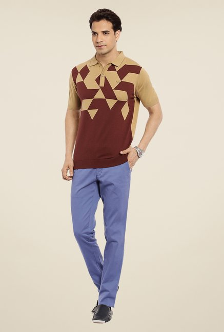 ColorPlus Maroon Printed T Shirt