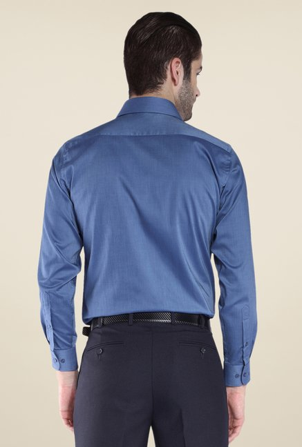 Park Avenue Dark Blue Solid Shirt