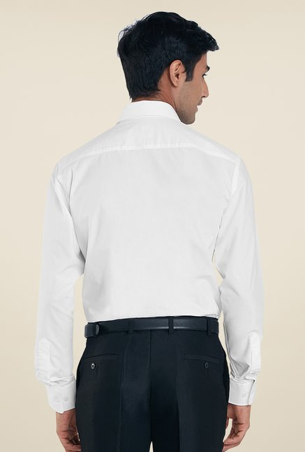 Park Avenue White Solid Shirt