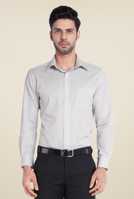 Park Avenue Grey Striped Shirt