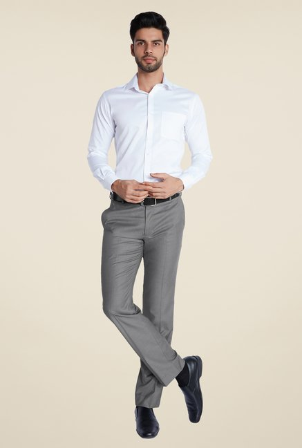 Park Avenue Grey Solid Trouser