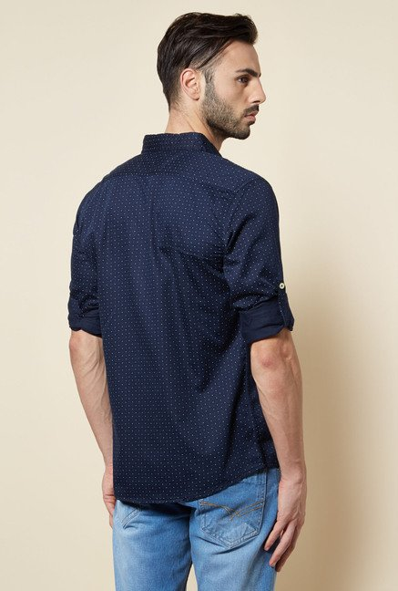 Zudio Navy Slim Fit Shirt