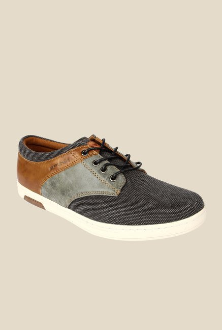 Spunk Corolla Grey & Tan Sneakers