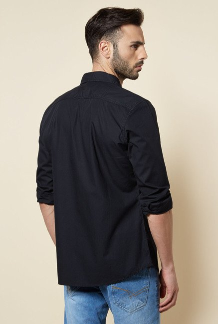 Zudio Black Slim Fit Shirt