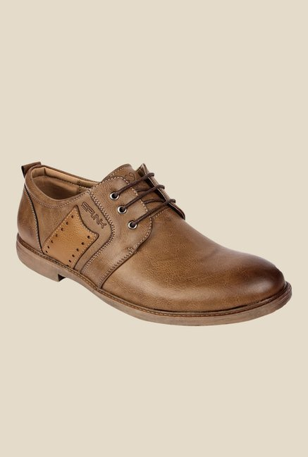 Spunk Vitara Tan Derby Shoes