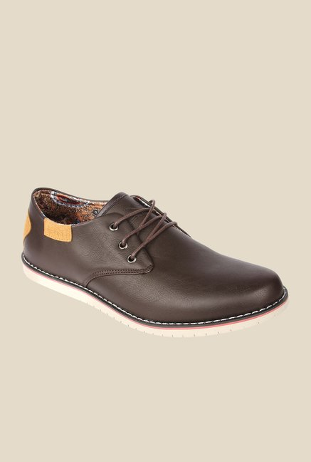 Spunk Basil Coffee Derby Shoes